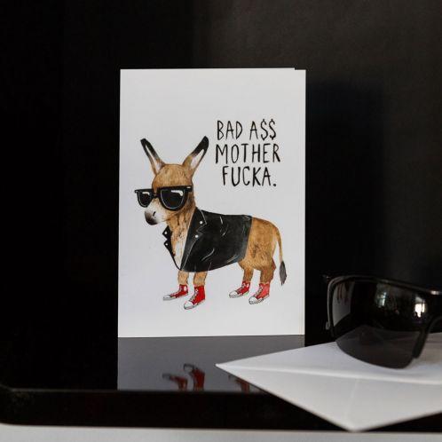 Weihnachtsgeschenke - Grußkarte Bad Ass