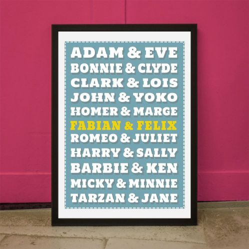 Berühmte Paare - Personalisierbares Poster