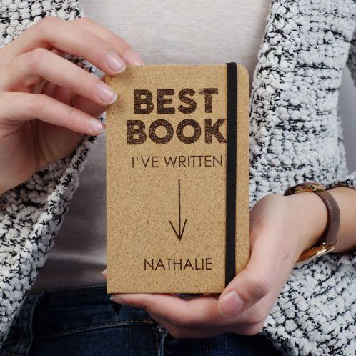 Personalisierbares Kork Notizbuch - Best Book