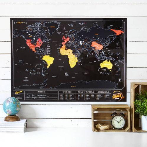 Geburtstagsgeschenke - Rubbel-Weltkarte Tafel