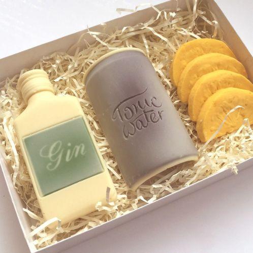 Weihnachtsgeschenke - Gin Tonic Notfall-Set aus Schokolade
