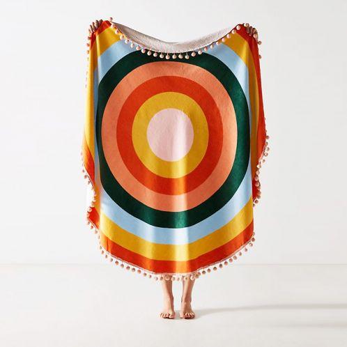 Riesiges Handtuch Farbenkreis mit Quasten