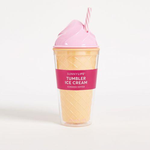 Eiscreme Trinkbecher in Pink
