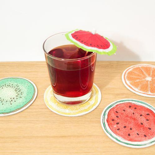 Früchte-Untersetzer 4er-Sets
