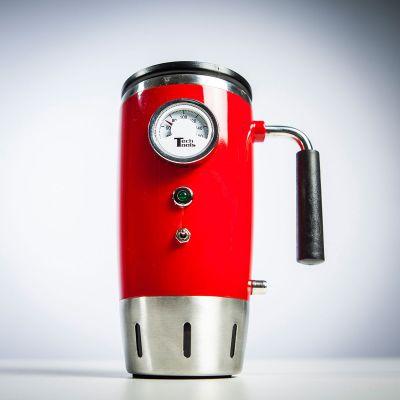 Beheizter Retro Trinkbecher mit Temperaturanzeige