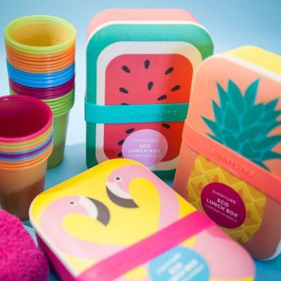 Fröhliche Öko-Lunchboxen