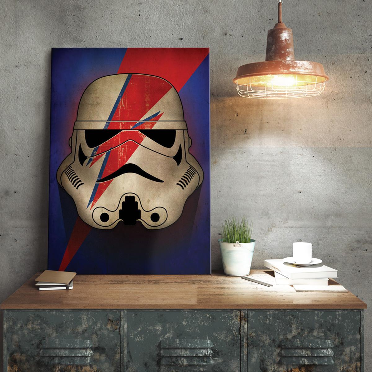 Star Wars Metallposter - Stormtrooper Ziggy