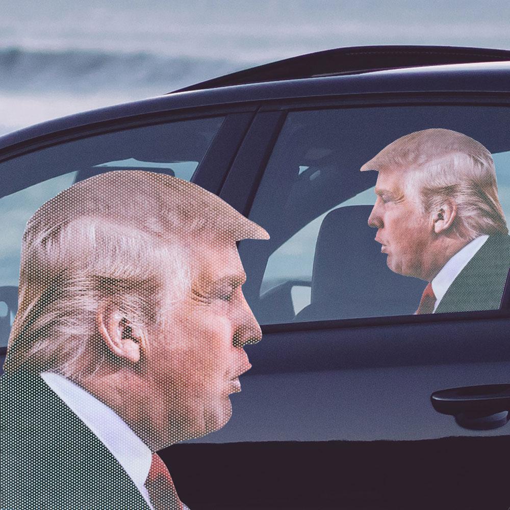 Autoaufkleber Trump