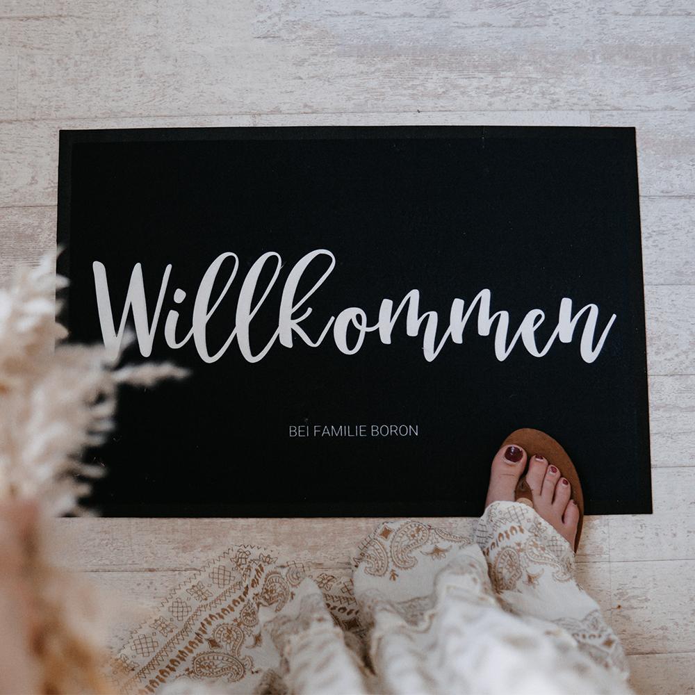Weihnachtsgeschenke für Frauen personalisierte Fußmatte mit Namen